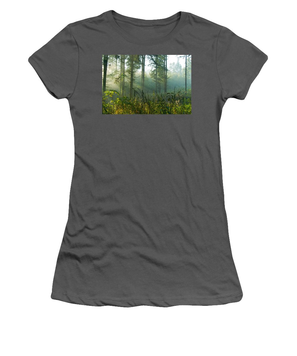 Nature Women's T-Shirt (Athletic Fit) featuring the photograph A New Day Has Come by Daniel Csoka