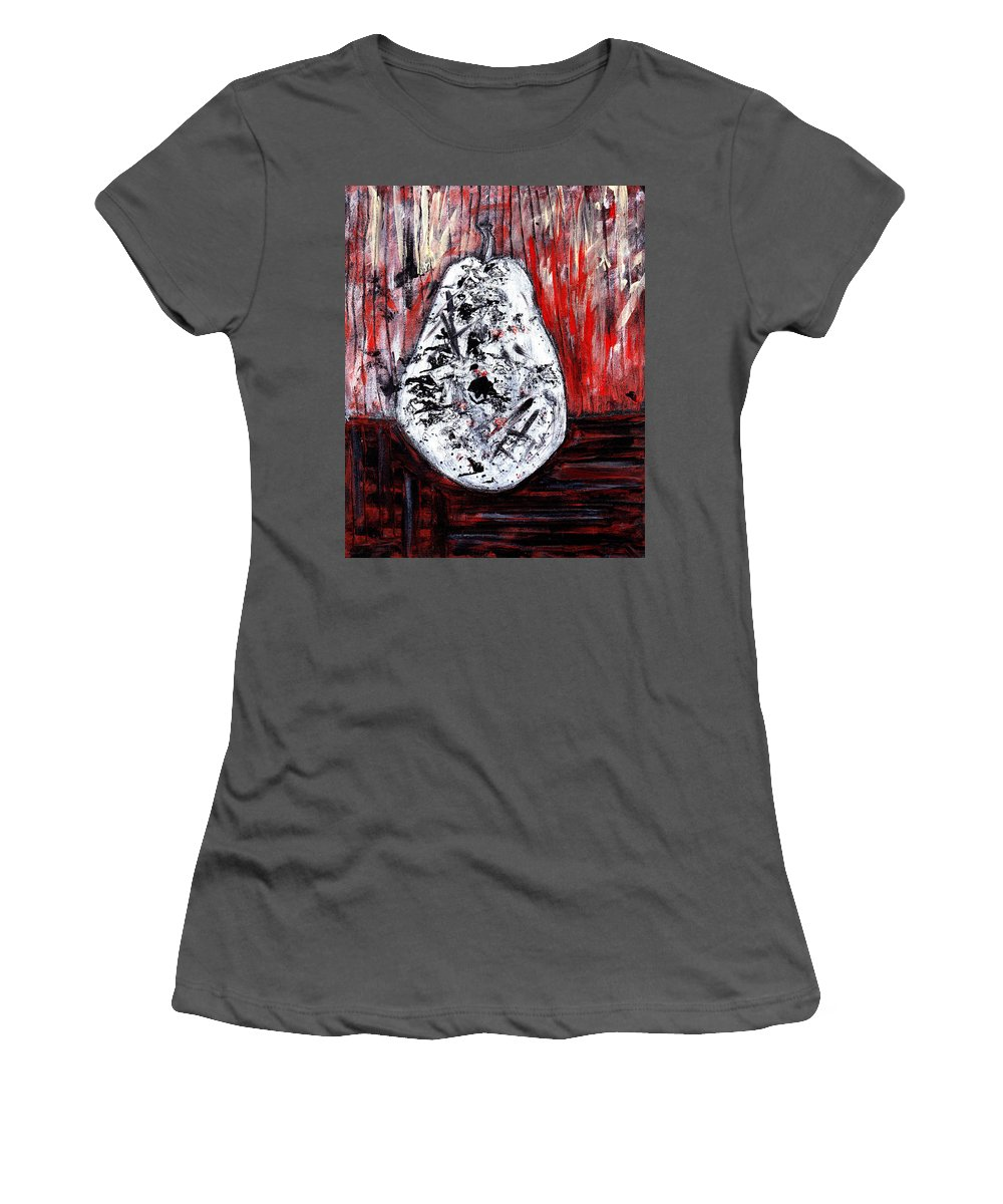Pear Women's T-Shirt (Athletic Fit) featuring the painting A Pear-antly by Wayne Potrafka