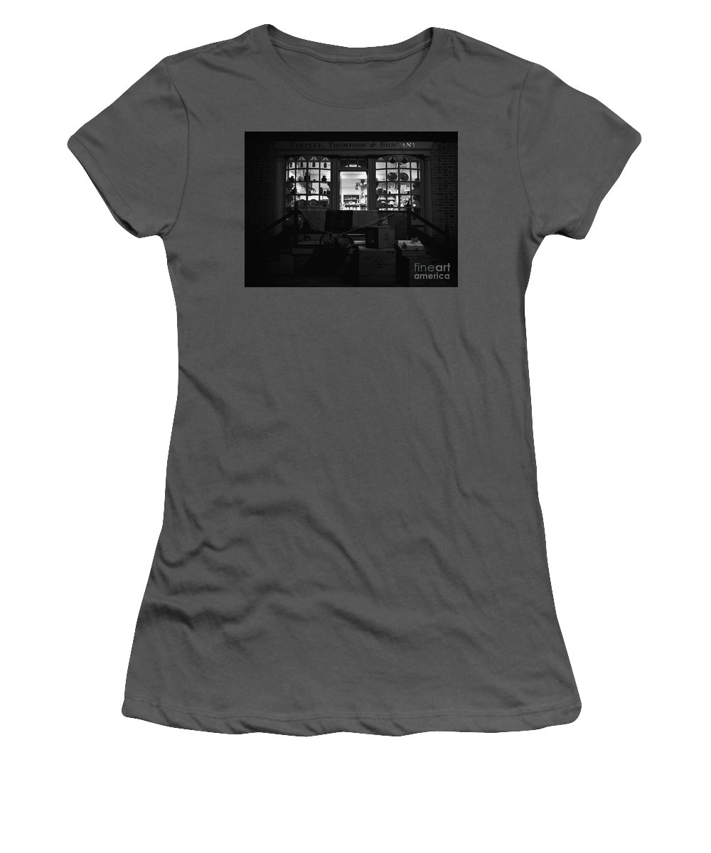 Store Women's T-Shirt (Athletic Fit) featuring the photograph A Shopkeeper by Rachel Morrison