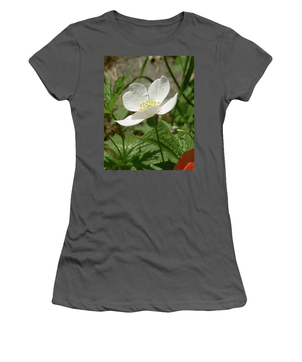 White Flower Women's T-Shirt (Athletic Fit) featuring the photograph A Simple Life by Natalie LaRocque