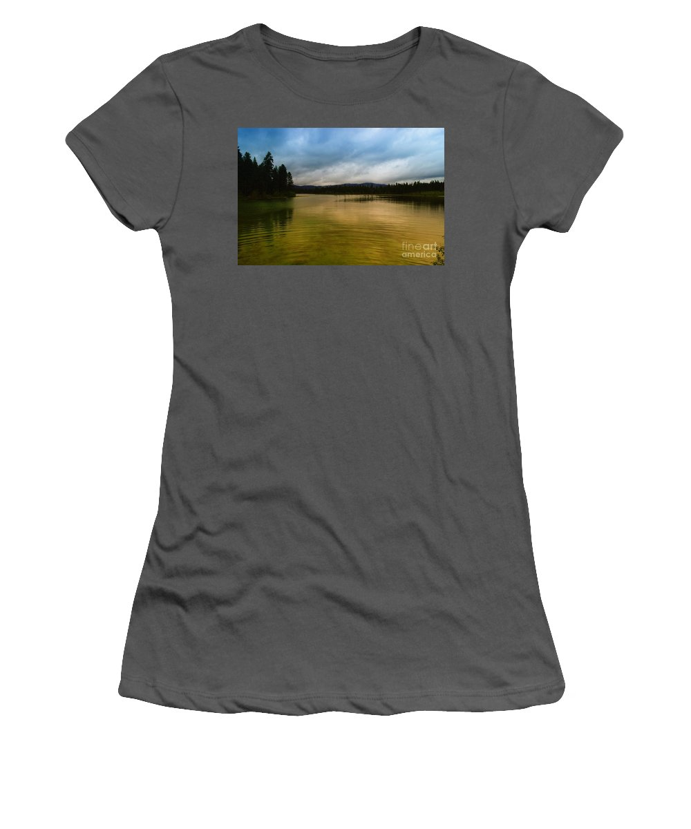 Water Women's T-Shirt (Athletic Fit) featuring the photograph A Small Peice Of Paradise by Jeff Swan