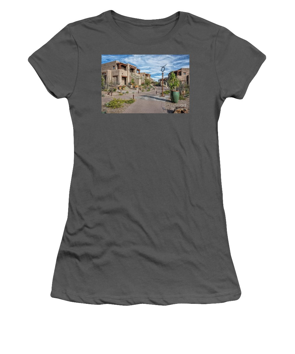 Architecture Women's T-Shirt (Athletic Fit) featuring the photograph A Southwest Community by David Levin