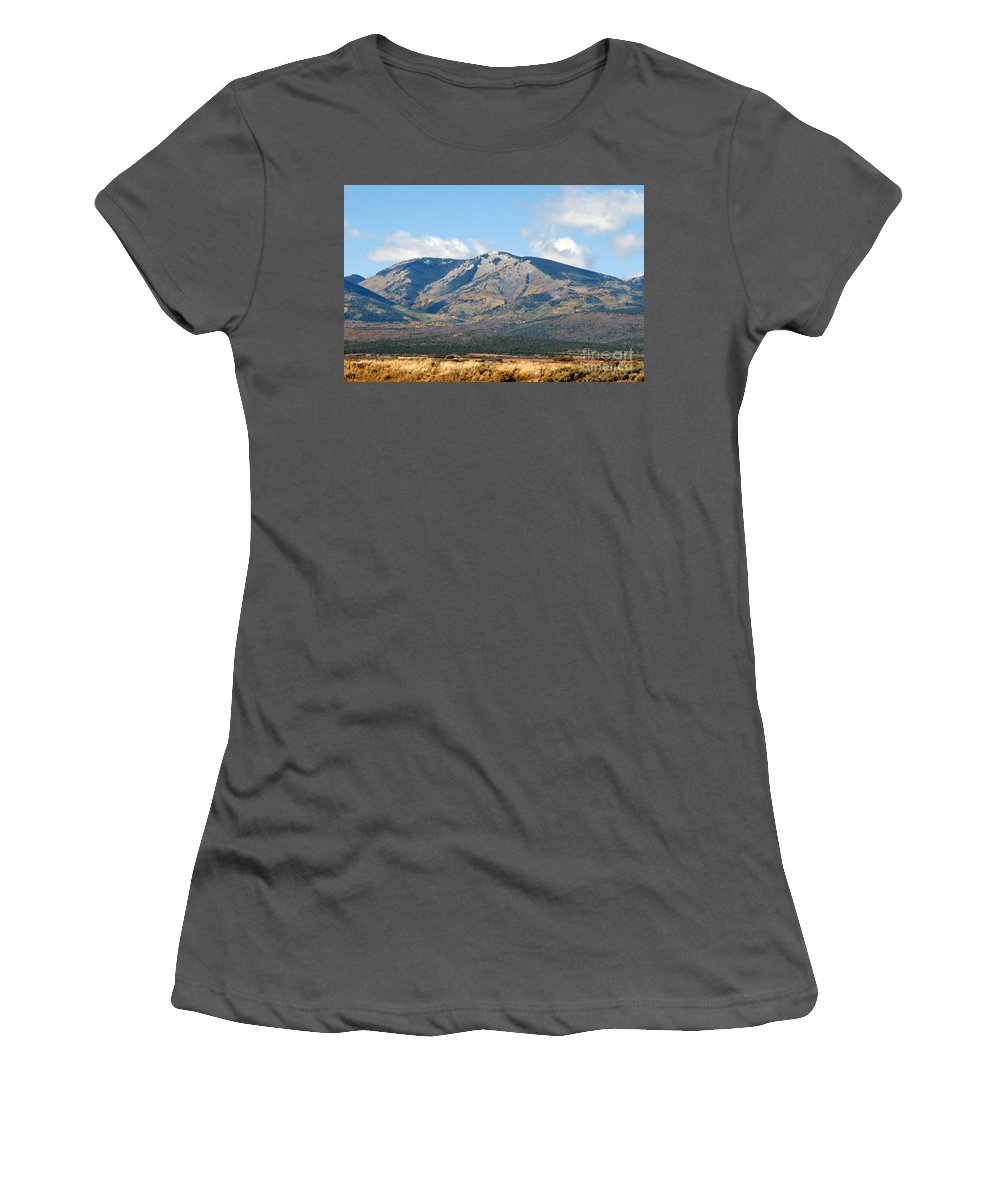 Abajo Mountains Utah Women's T-Shirt (Athletic Fit) featuring the photograph Abajo Mountains Utah by David Lee Thompson