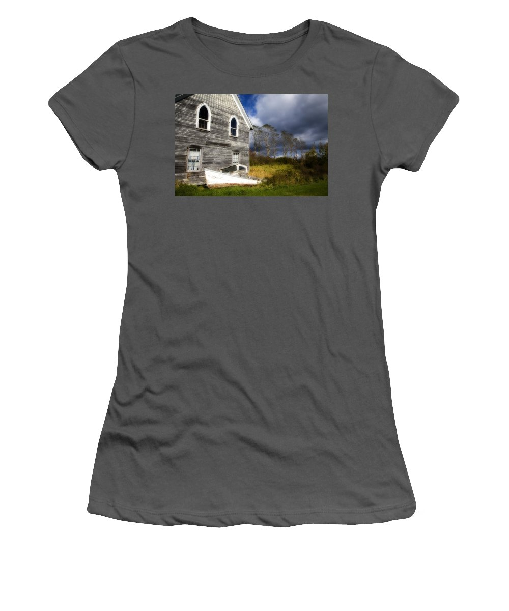 Abandoned Women's T-Shirt (Athletic Fit) featuring the photograph Abandoned by Eggers Photography