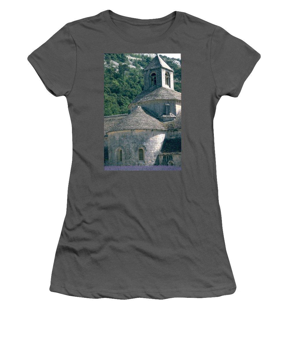 Abbeye De Senanque Women's T-Shirt (Athletic Fit) featuring the photograph Abbeye De Senanque by Flavia Westerwelle