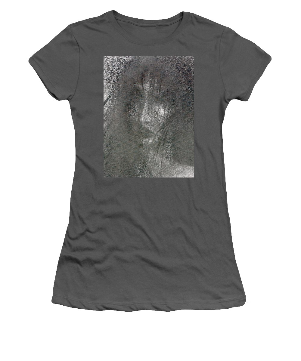 Psychedelic Women's T-Shirt (Athletic Fit) featuring the drawing Absence by Wojtek Kowalski