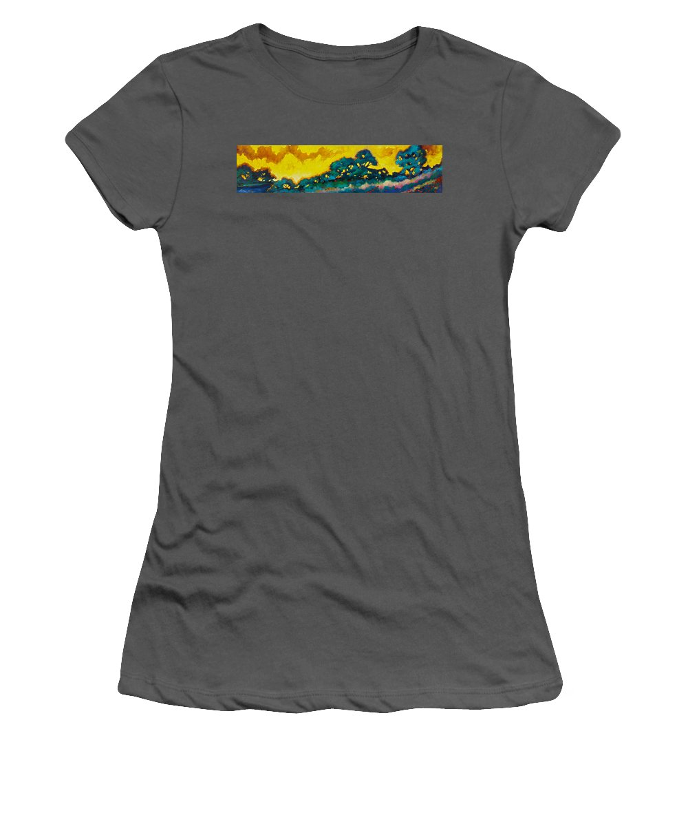 Abstract Women's T-Shirt (Athletic Fit) featuring the painting Abstract 01 by Richard T Pranke