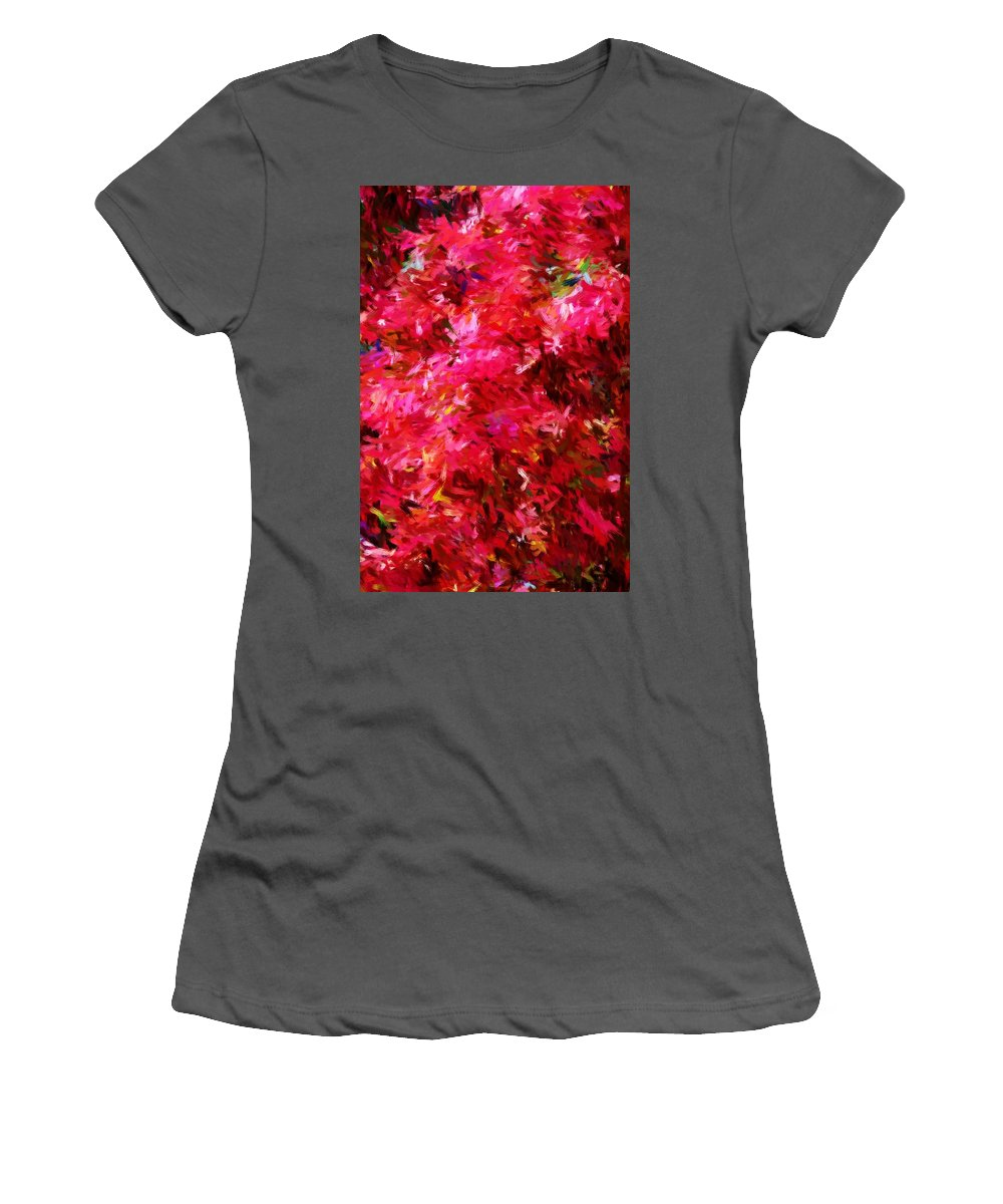 Digital Painting Women's T-Shirt (Athletic Fit) featuring the digital art Abstract 052310 by David Lane