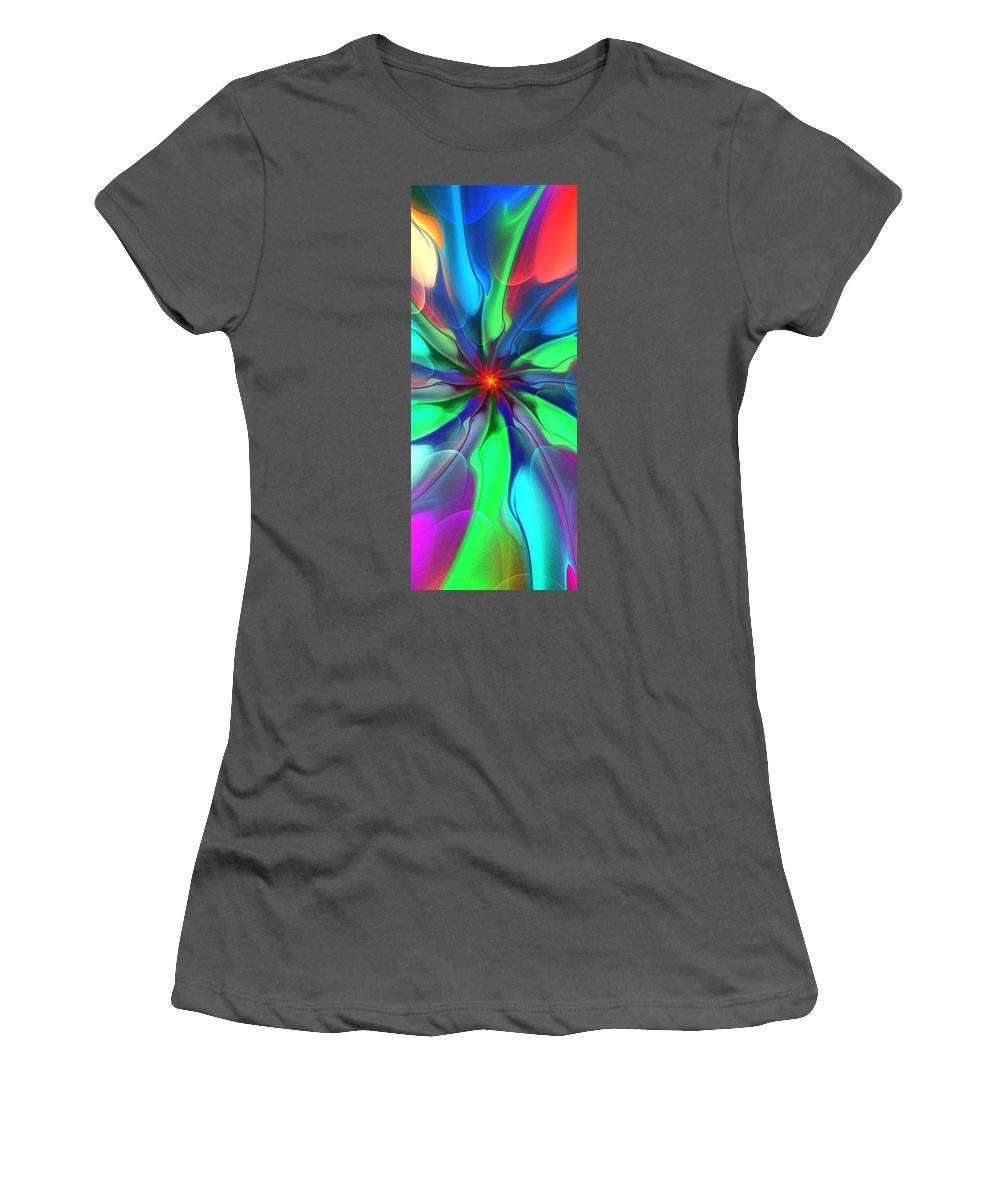 Fractal Women's T-Shirt (Athletic Fit) featuring the digital art Abstract 080610c by David Lane
