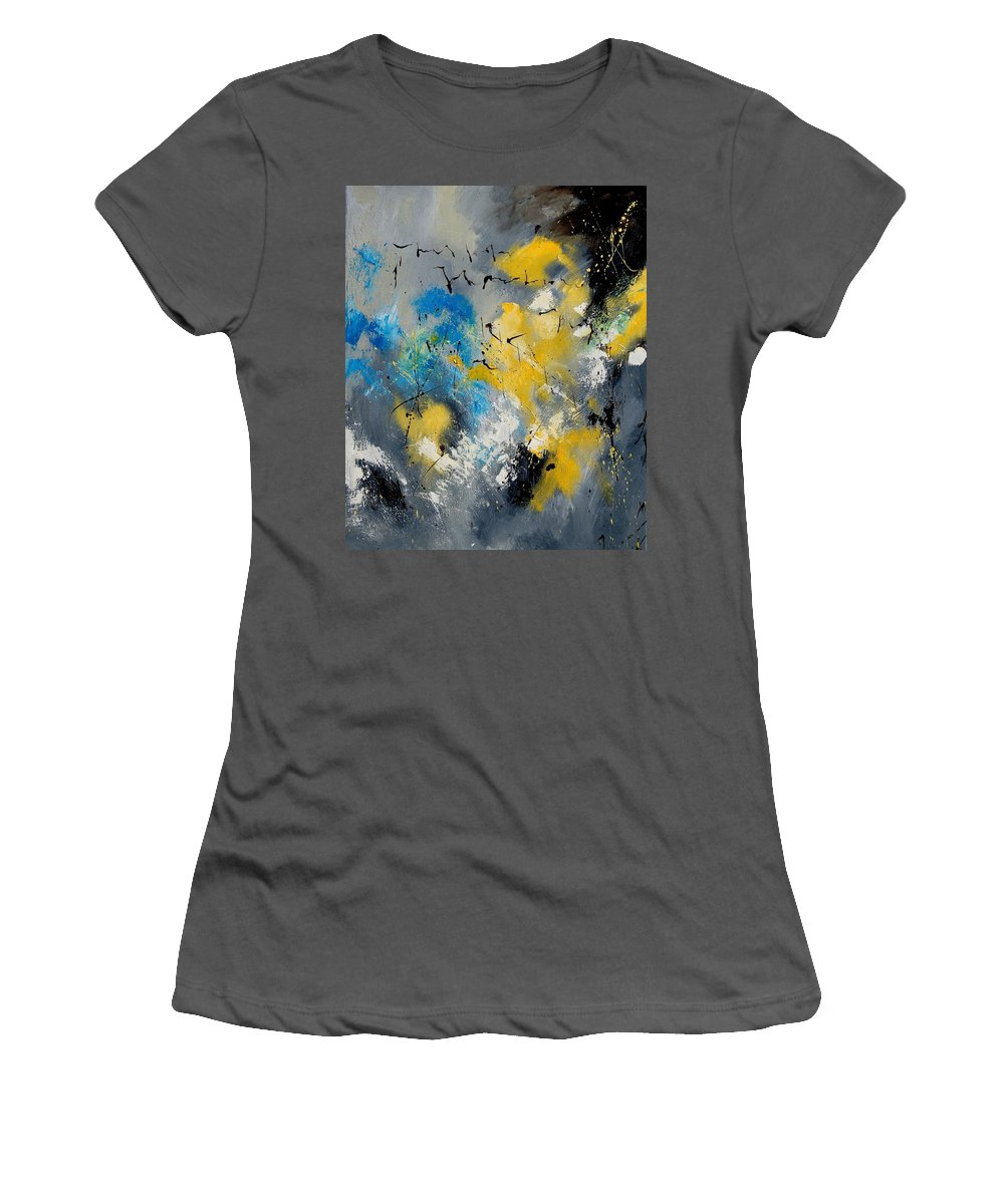Abstract Women's T-Shirt (Athletic Fit) featuring the painting Abstract 569070 by Pol Ledent