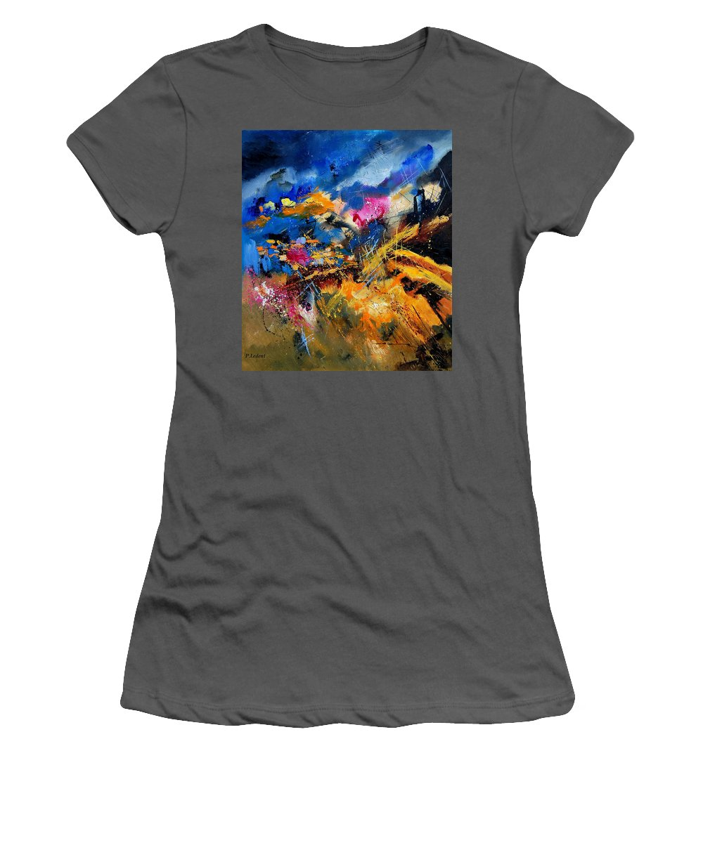 Abstract Women's T-Shirt (Athletic Fit) featuring the painting Abstract 7808082 by Pol Ledent