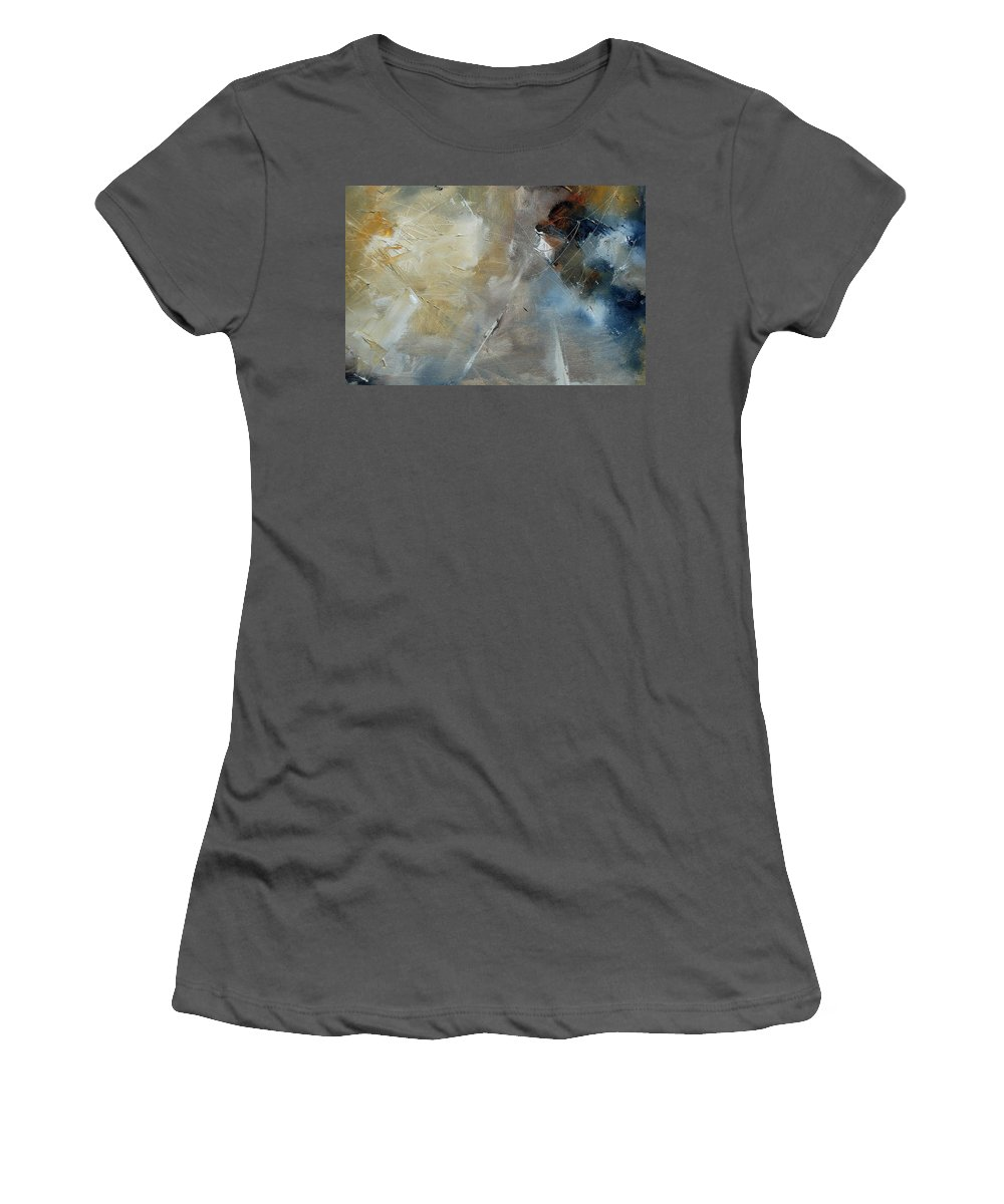 Abstract Women's T-Shirt (Athletic Fit) featuring the painting Abstract 904060 by Pol Ledent