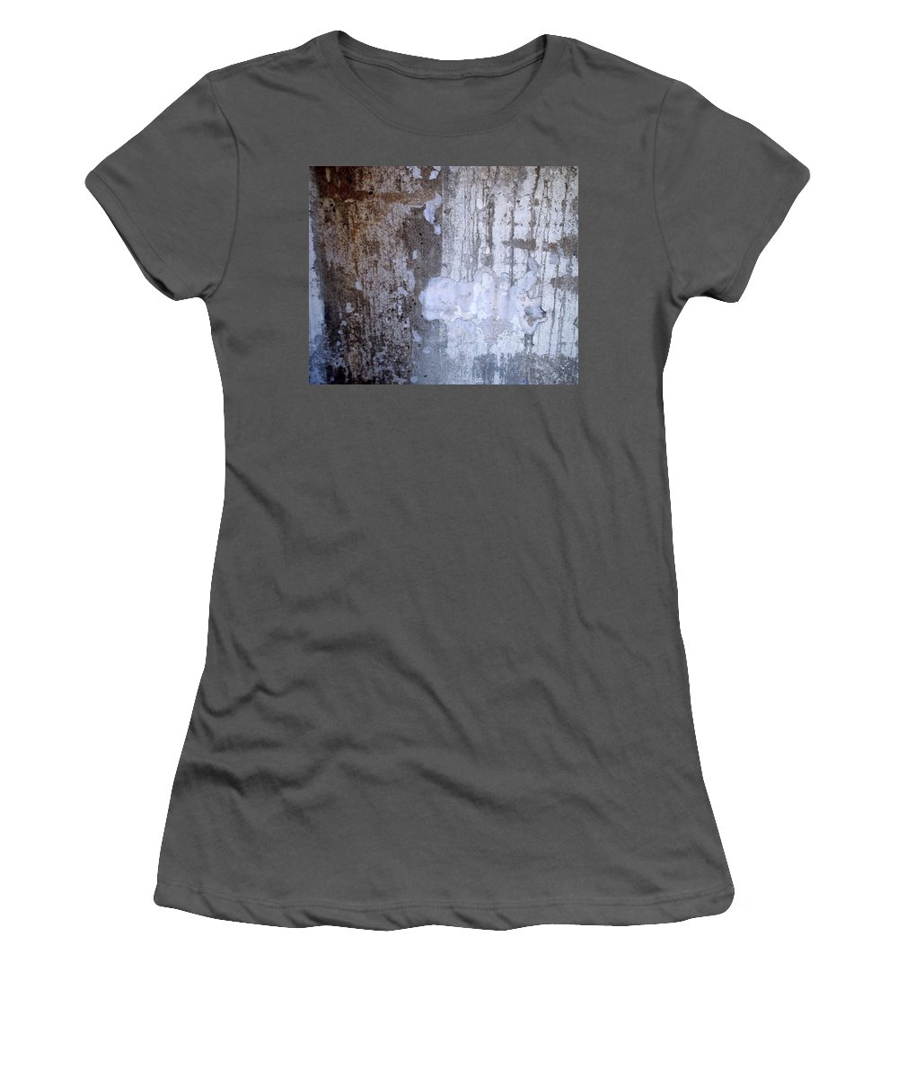 Industrial. Urban Women's T-Shirt (Athletic Fit) featuring the photograph Abstract Concrete 8 by Anita Burgermeister
