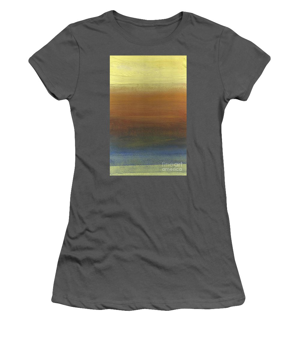 Abstract Women's T-Shirt (Athletic Fit) featuring the painting Across The Water by David Weigham