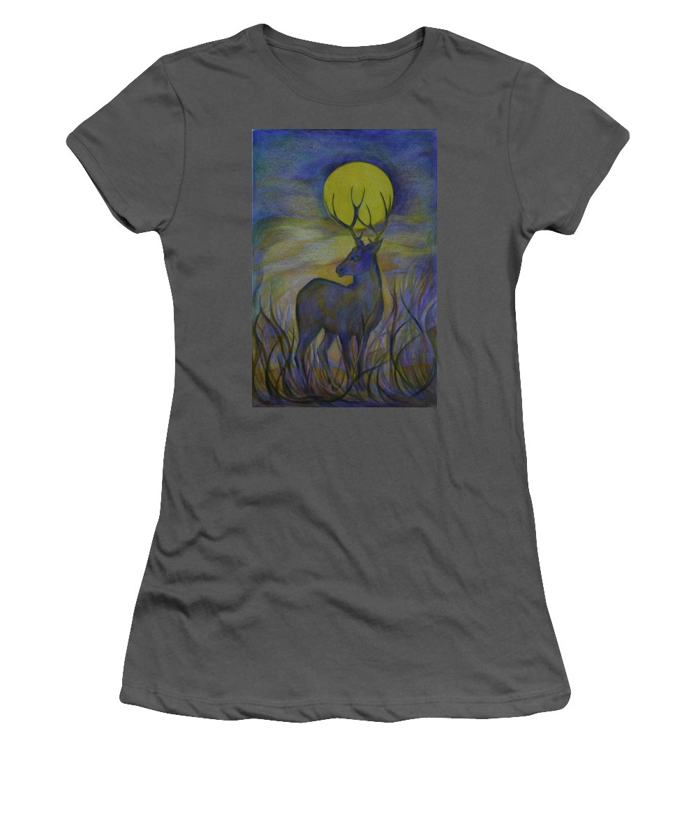 Travel Women's T-Shirt (Athletic Fit) featuring the drawing Alaska Stories. Part Four by Anna Duyunova