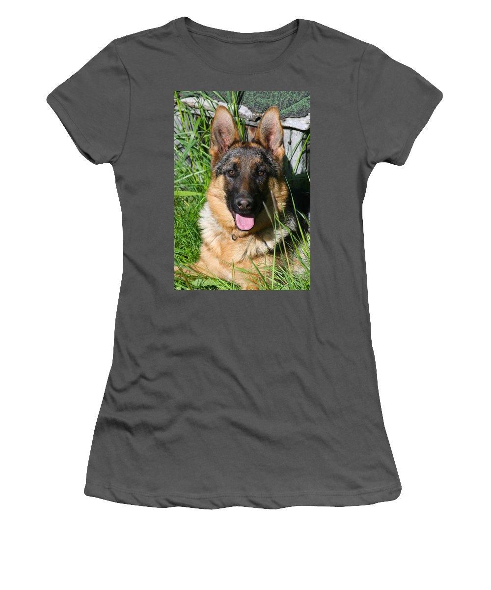 Pup Women's T-Shirt (Athletic Fit) featuring the photograph Alexis Von Nordstern Hof by Karon Melillo DeVega