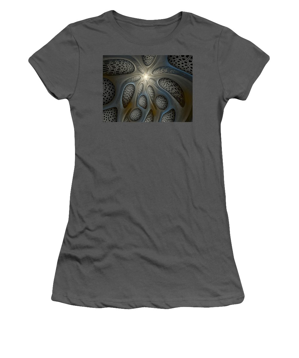 Fractal Art Women's T-Shirt (Athletic Fit) featuring the digital art Alien Nest by Amorina Ashton