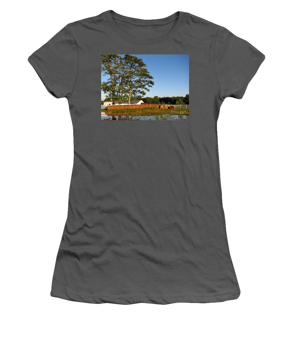 Landscape Women's T-Shirt (Athletic Fit) featuring the photograph All In A Row by Todd Blanchard