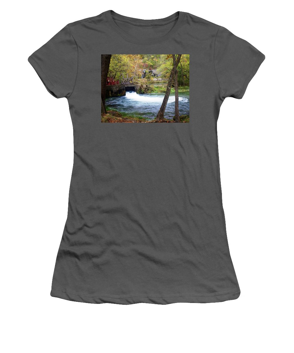 Alley Spring Women's T-Shirt (Athletic Fit) featuring the photograph Alley Spring by Marty Koch