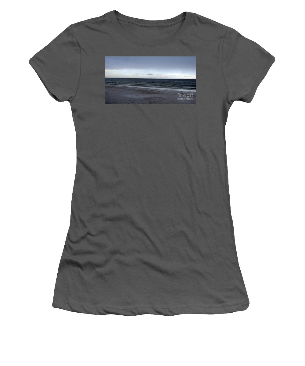 St Petersburg Florida Women's T-Shirt (Athletic Fit) featuring the photograph Almost Sunset by Amanda Barcon