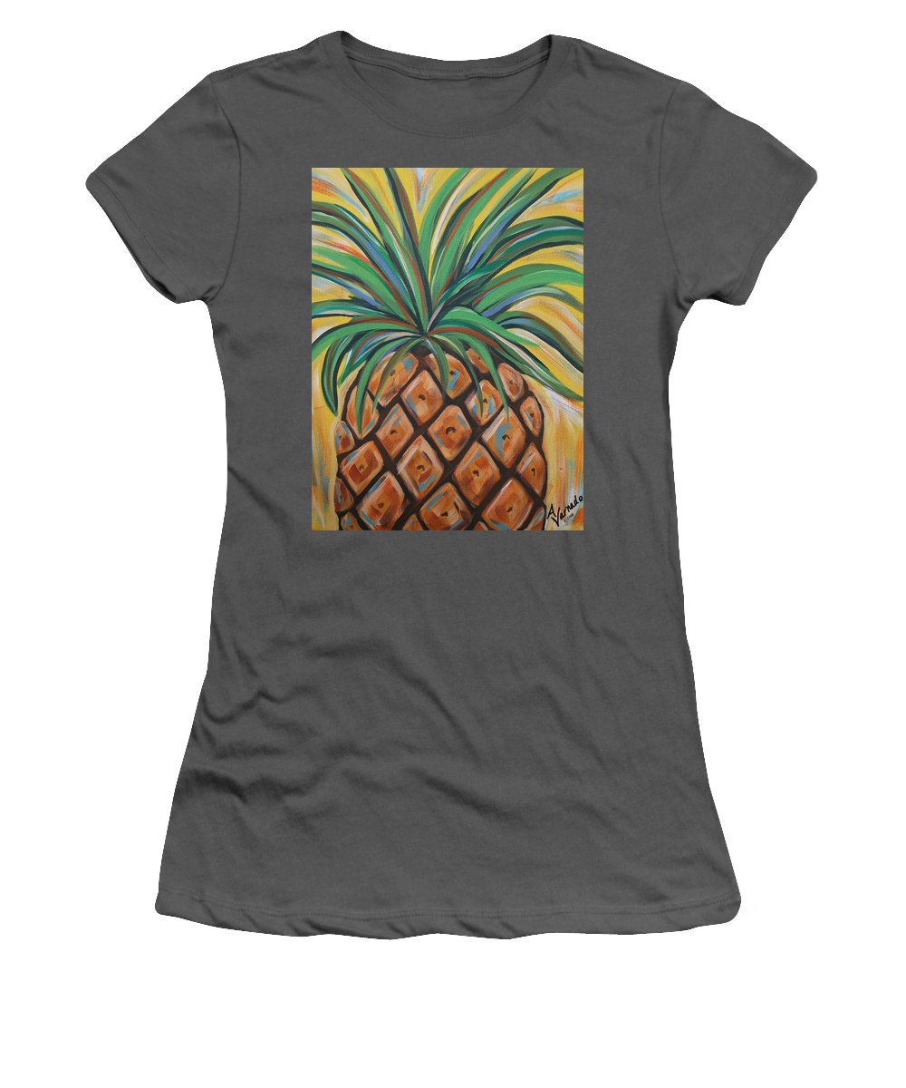 Aloha Women's T-Shirt (Athletic Fit) featuring the painting Aloha by Angela Miles Varnado