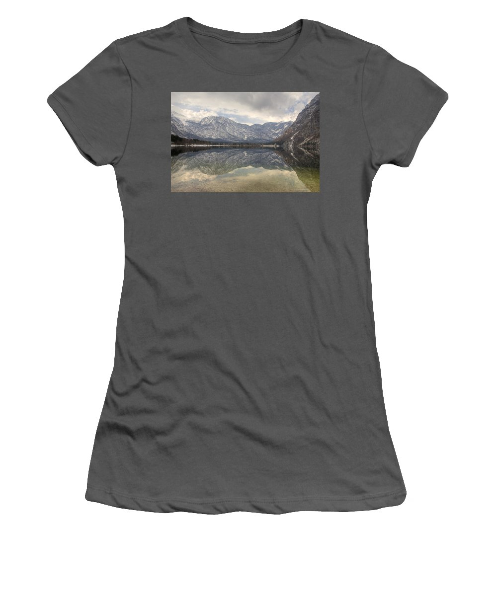 Mountains Women's T-Shirt (Athletic Fit) featuring the photograph Alpine Reflections by Ian Middleton