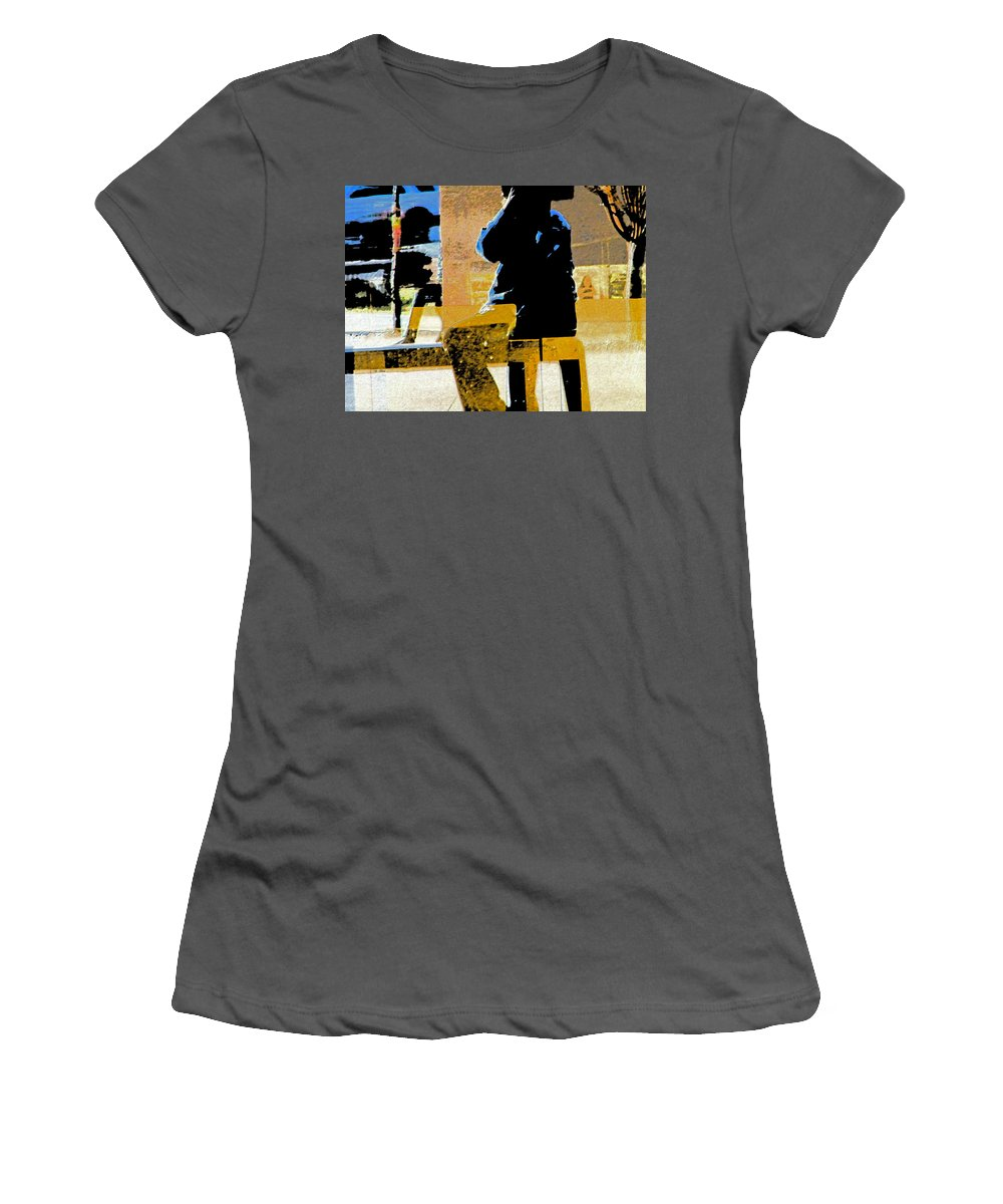 Abstract Women's T-Shirt (Athletic Fit) featuring the digital art Alternate Reality-photographer 3 by Lenore Senior