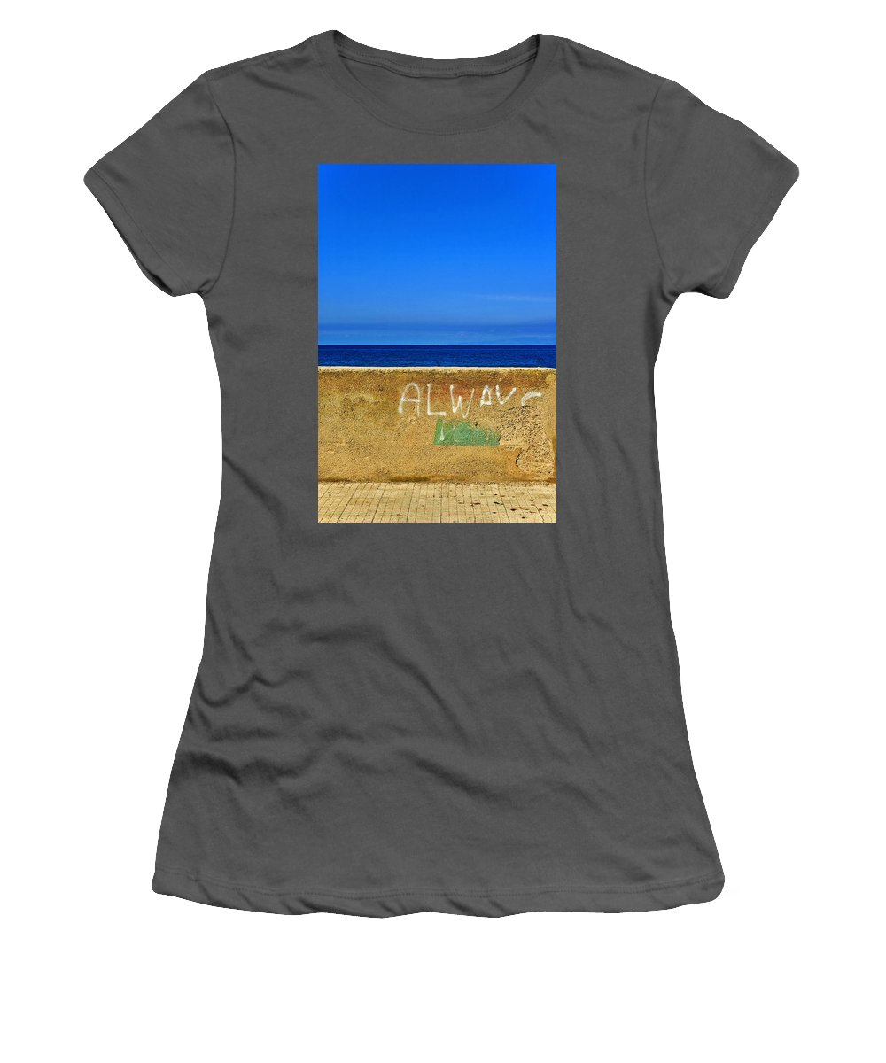 Graffiti Women's T-Shirt (Athletic Fit) featuring the photograph Always by Silvia Ganora