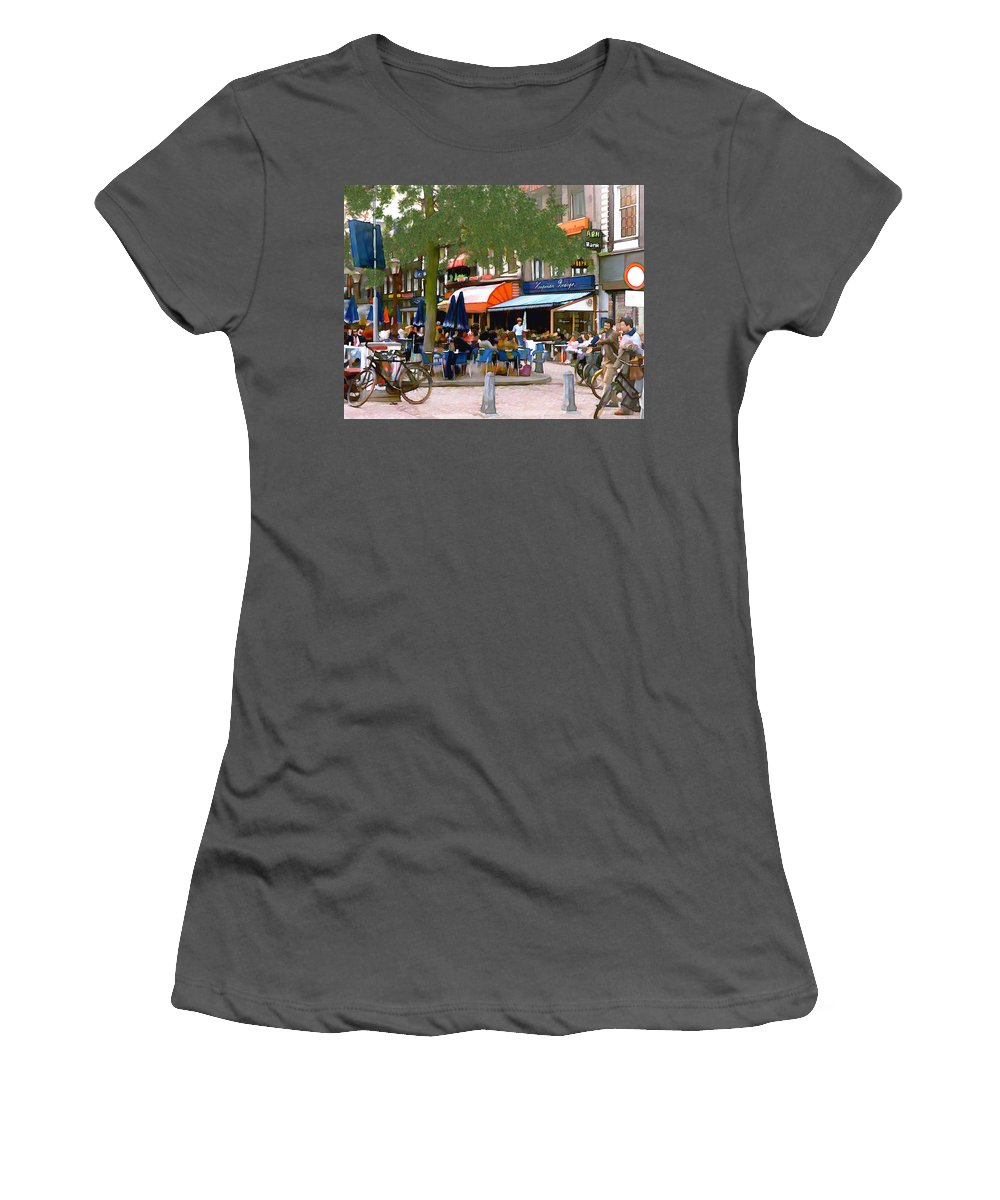 Amsterdam Women's T-Shirt (Athletic Fit) featuring the photograph Amsterdam by Kurt Van Wagner