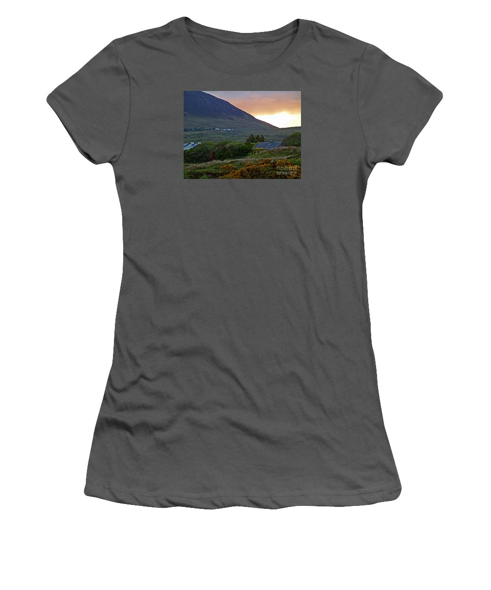 Fine Art Photography Women's T-Shirt (Athletic Fit) featuring the photograph An Ivy Covered Cottage by Patricia Griffin Brett