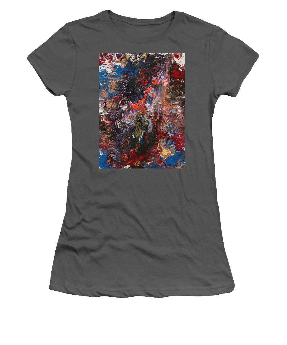 Fusionart Women's T-Shirt (Athletic Fit) featuring the painting Angel Rising by Ralph White