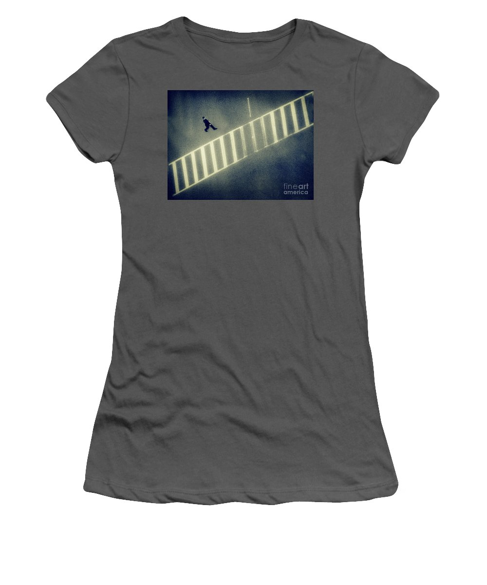 City Women's T-Shirt (Athletic Fit) featuring the photograph Anonymity by Dana DiPasquale