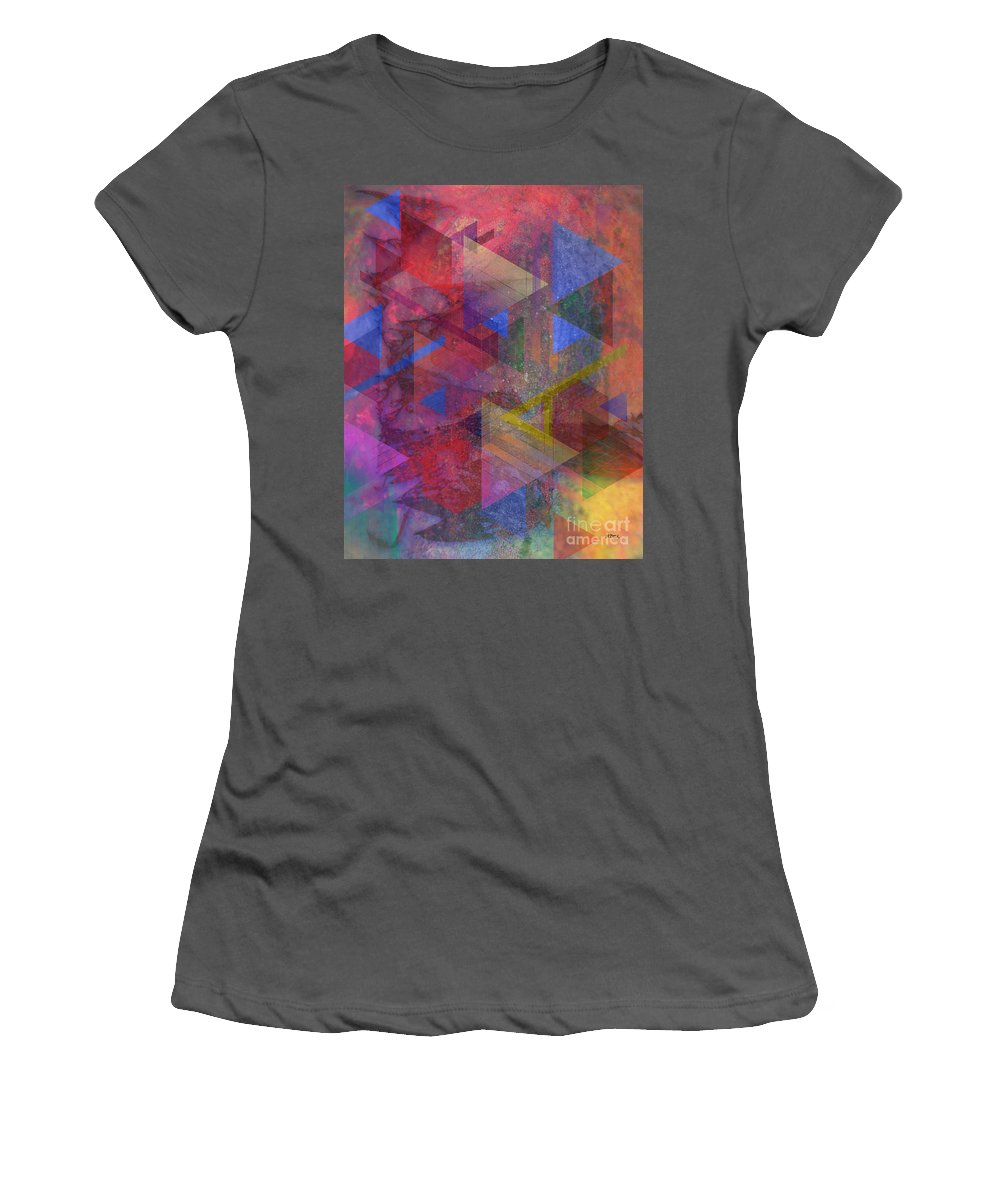 Another Time Women's T-Shirt (Athletic Fit) featuring the digital art Another Time by John Beck