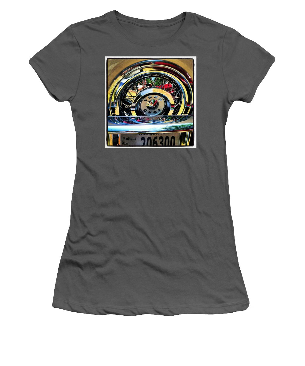 Ford Women's T-Shirt (Athletic Fit) featuring the photograph Antique Car by Artie Rawls