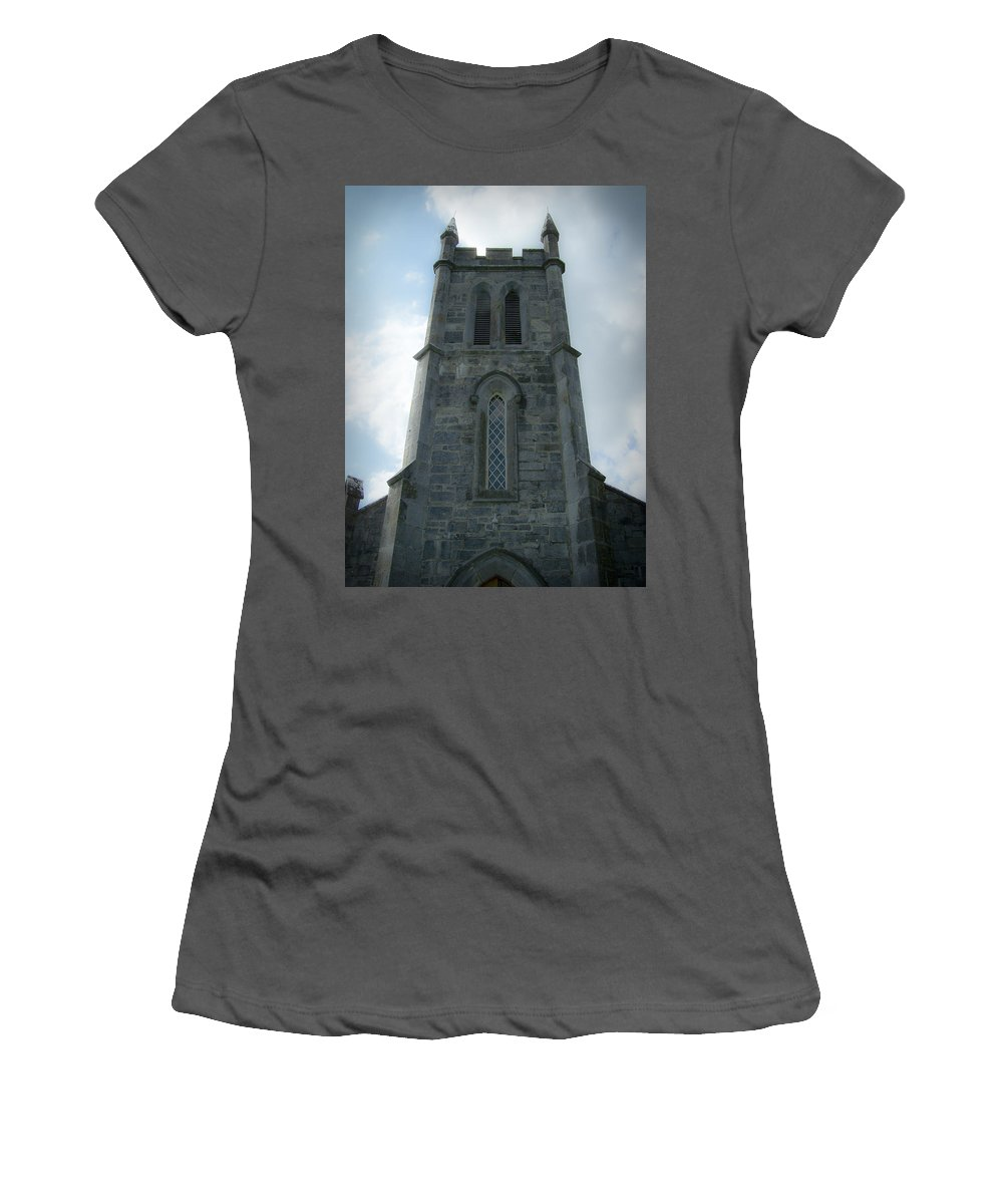Irish Women's T-Shirt (Athletic Fit) featuring the photograph Ardcroney Church County Clare Ireland by Teresa Mucha