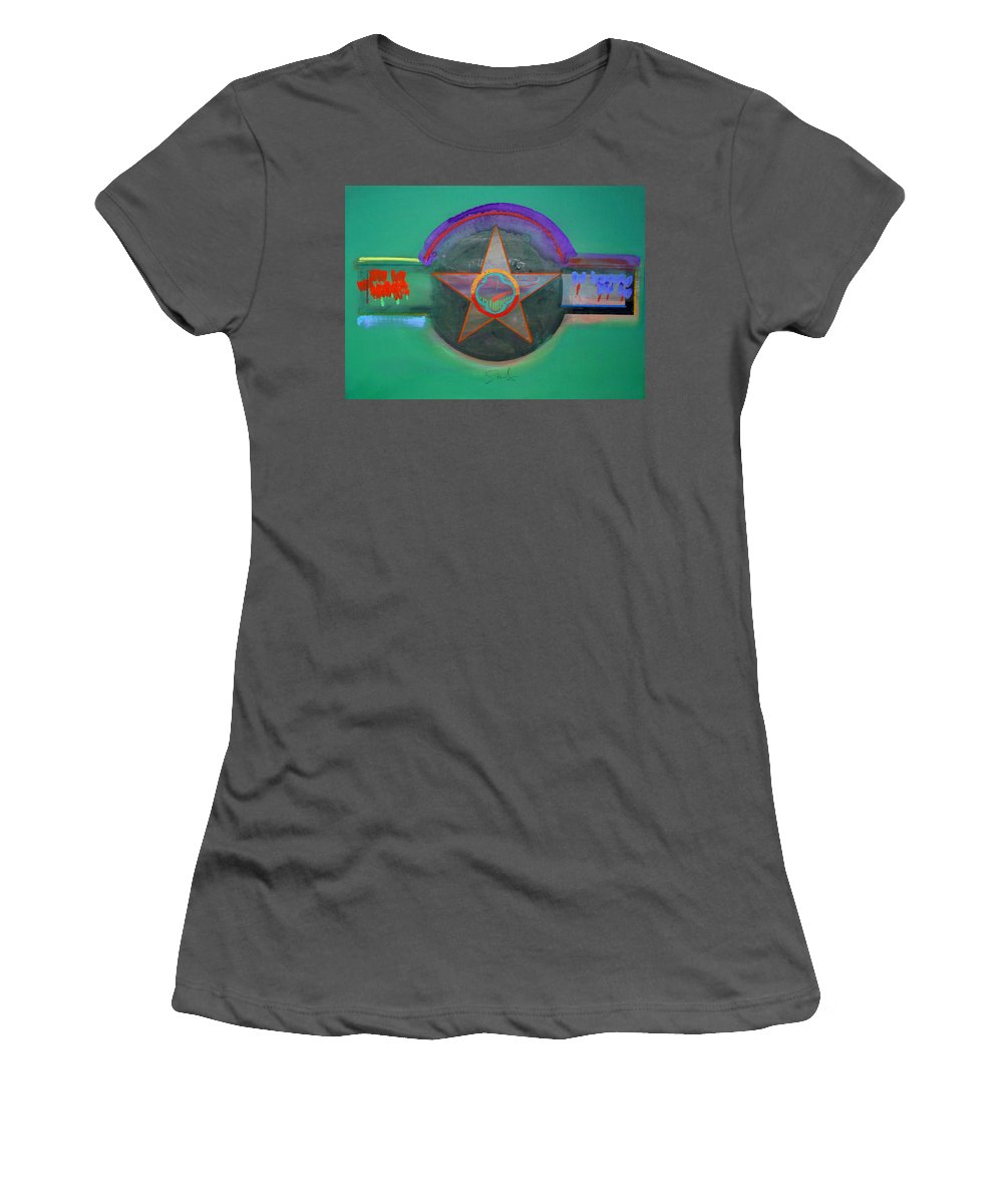 Star Women's T-Shirt (Athletic Fit) featuring the painting Arlington Green by Charles Stuart
