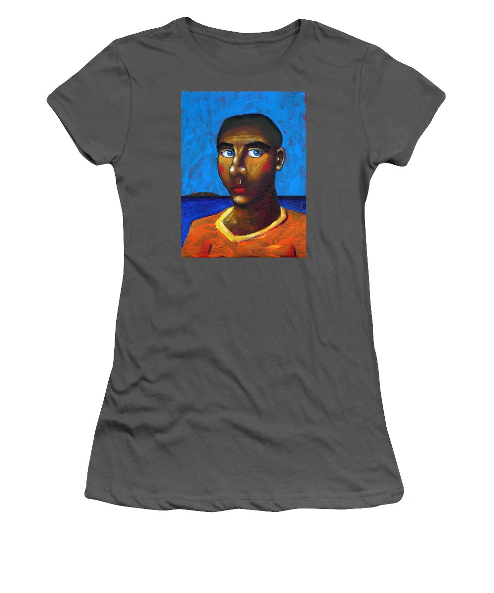 Arsonist Women's T-Shirt (Athletic Fit) featuring the painting Arsonist by Dimitris Milionis