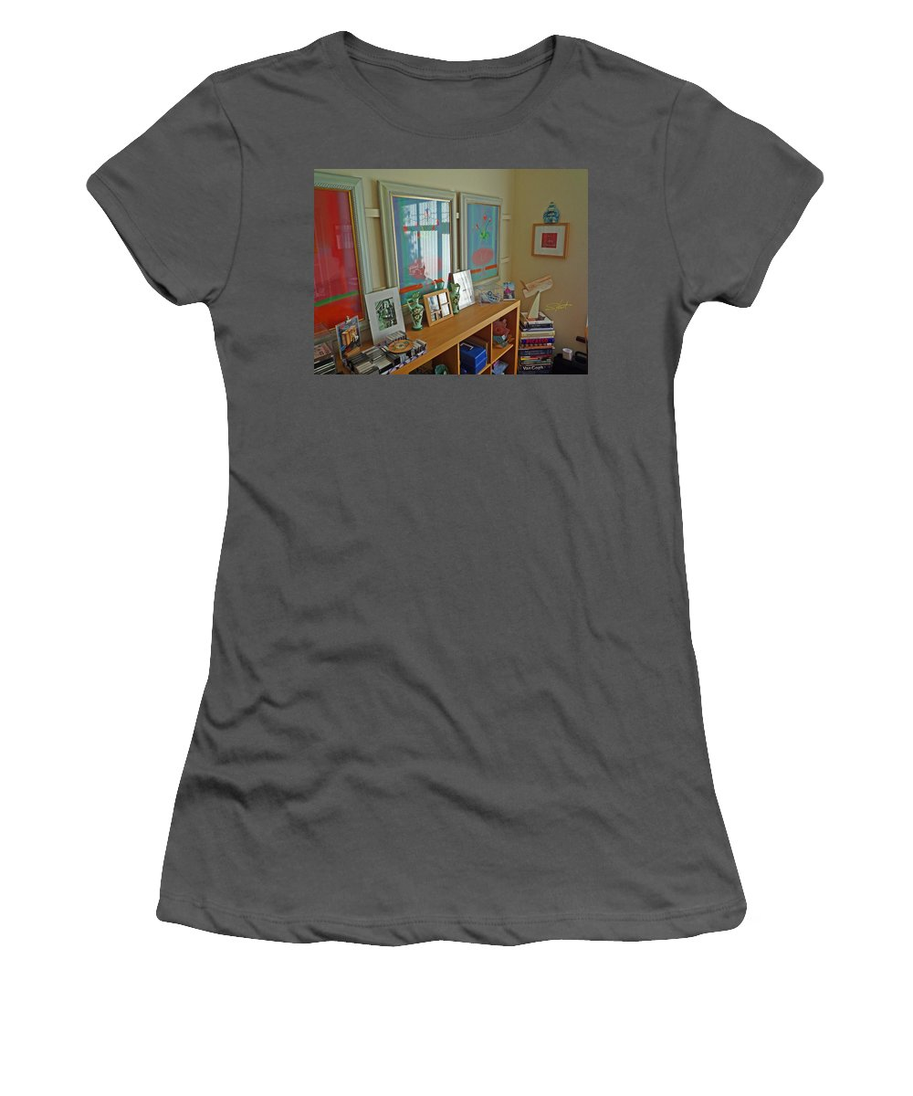 Artists Studio Women's T-Shirt (Athletic Fit) featuring the photograph Art Gallery by Charles Stuart