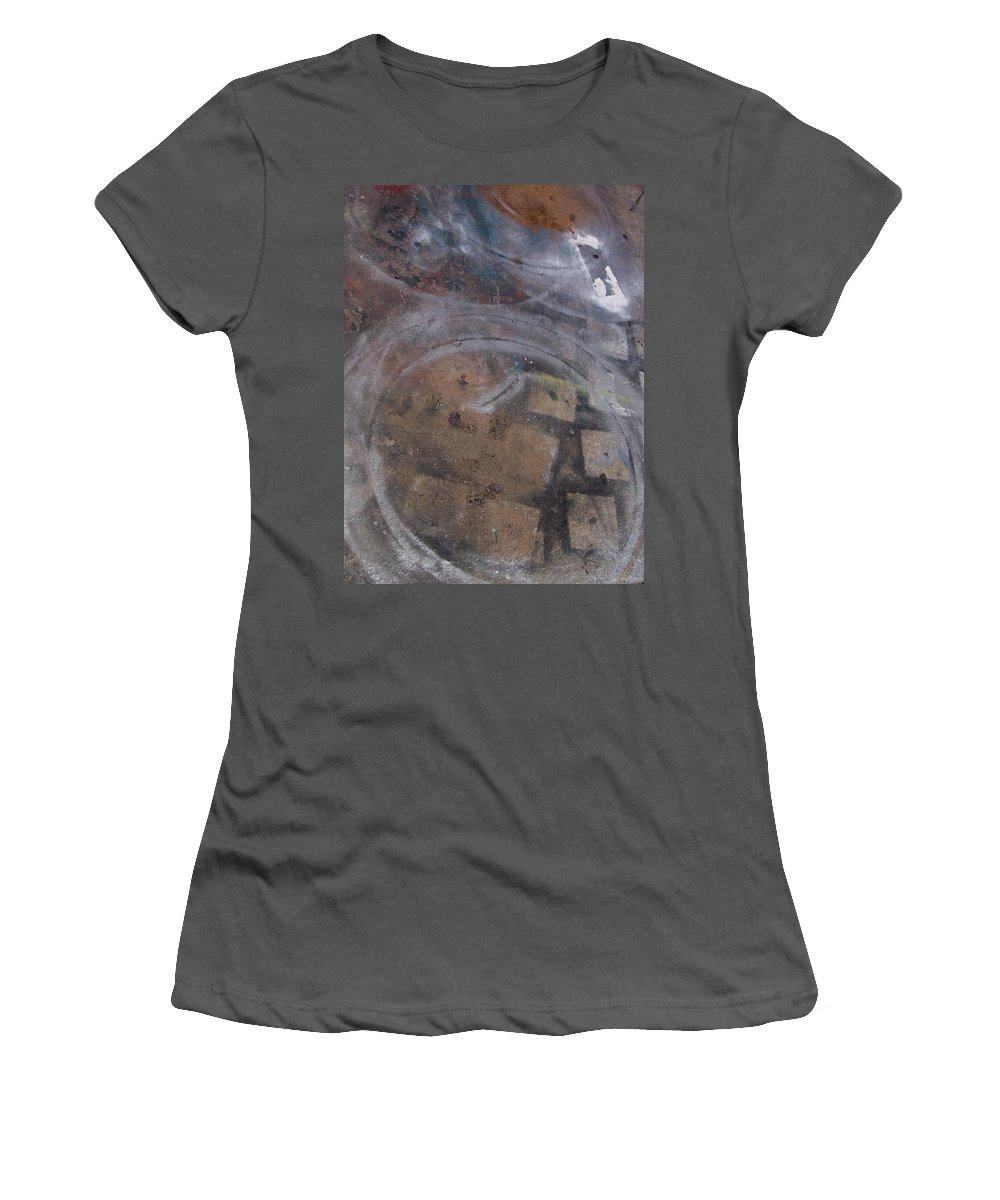 Artist Women's T-Shirt (Athletic Fit) featuring the photograph Artist Sidewalk 1 by Anita Burgermeister