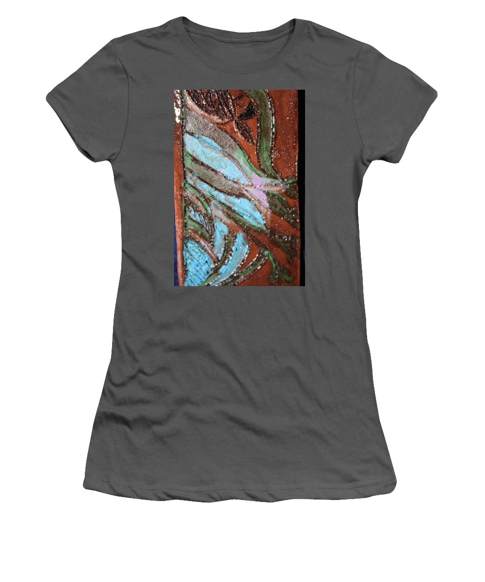 Gloria Ssali Women's T-Shirt (Athletic Fit) featuring the painting Asleep Tile by Gloria Ssali