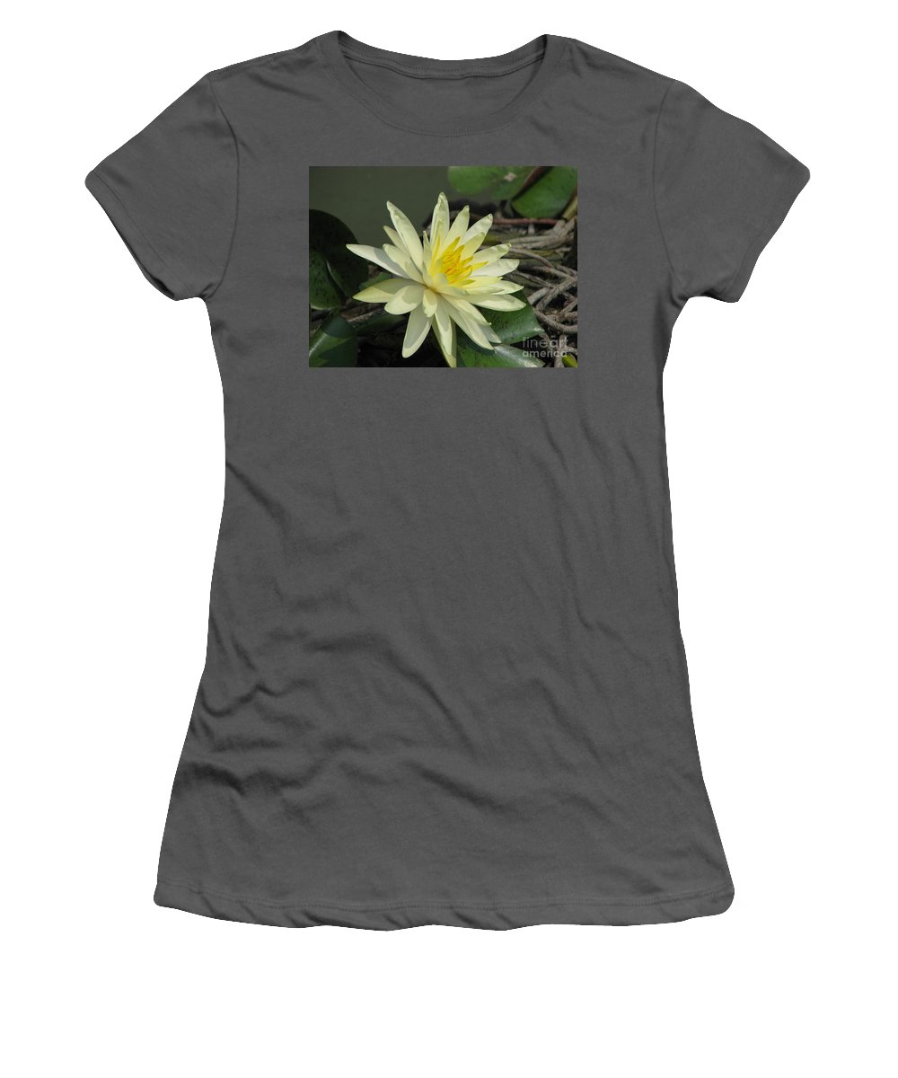 Lilly Women's T-Shirt (Athletic Fit) featuring the photograph At The Pond by Amanda Barcon