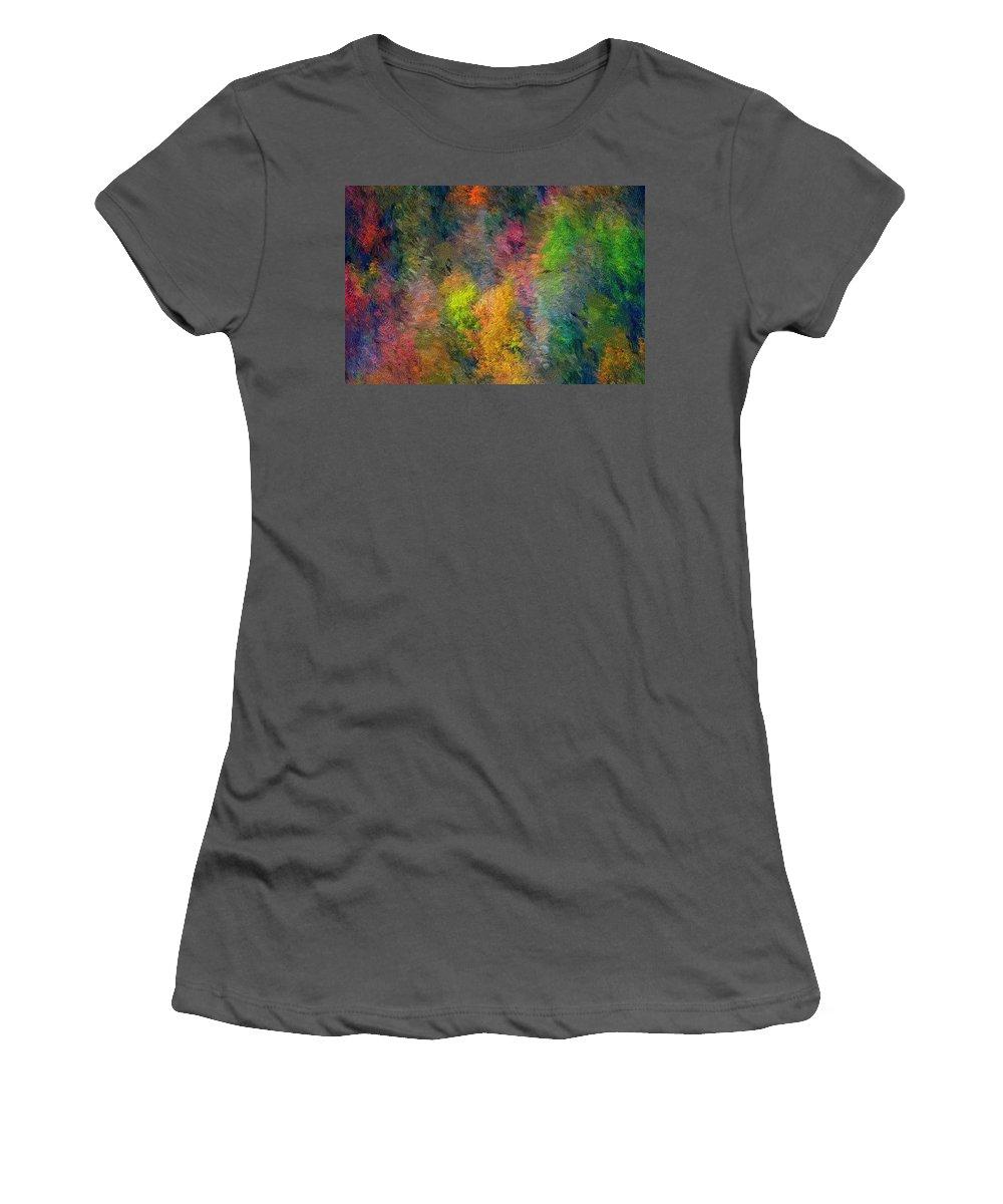 Landscape Women's T-Shirt (Athletic Fit) featuring the digital art Autum Hillside by David Lane