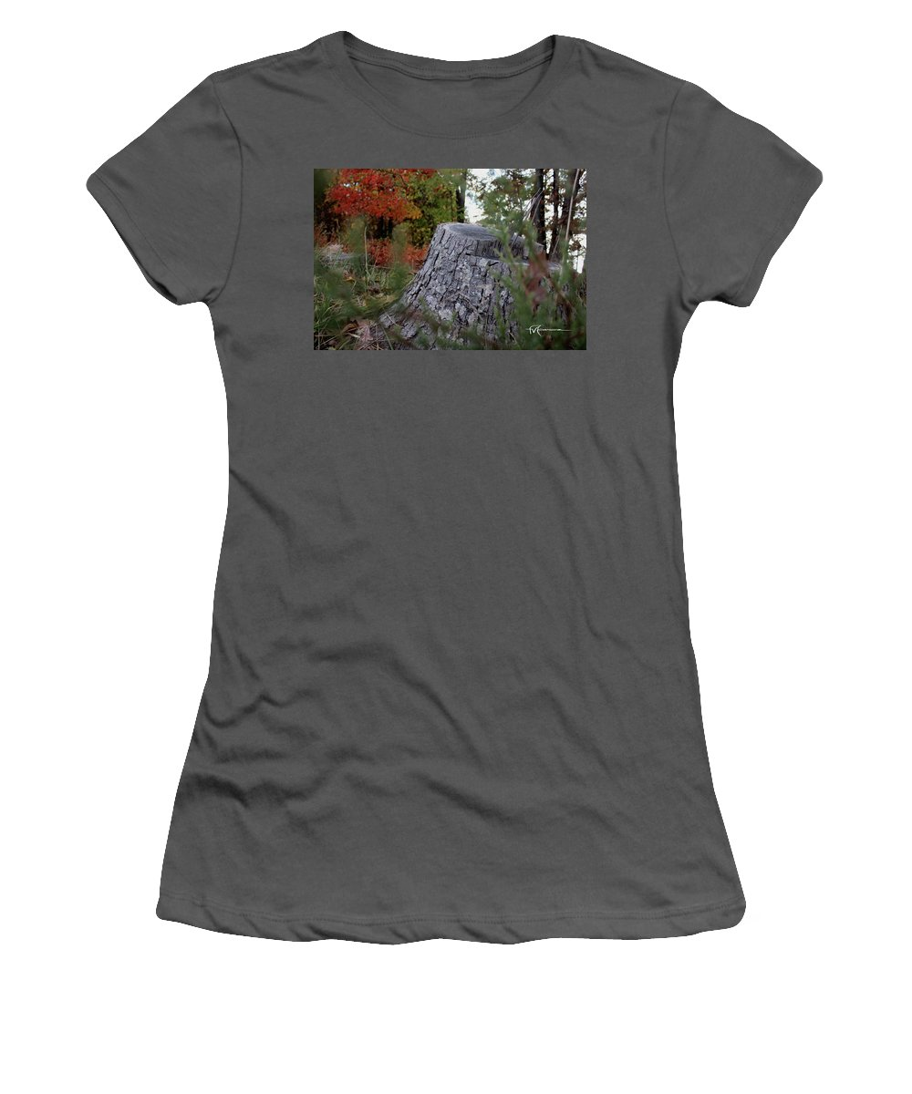 Outdoor Images Women's T-Shirt (Athletic Fit) featuring the photograph Autumn Gone-by by Felipe Gomez