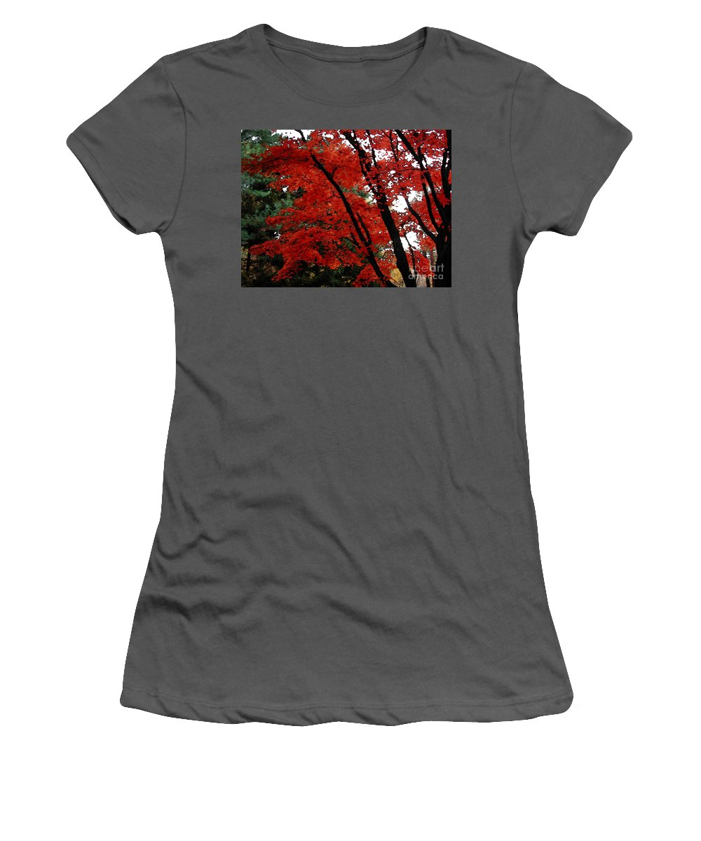 Autumn Women's T-Shirt (Athletic Fit) featuring the photograph Autumn In New England by Melissa A Benson