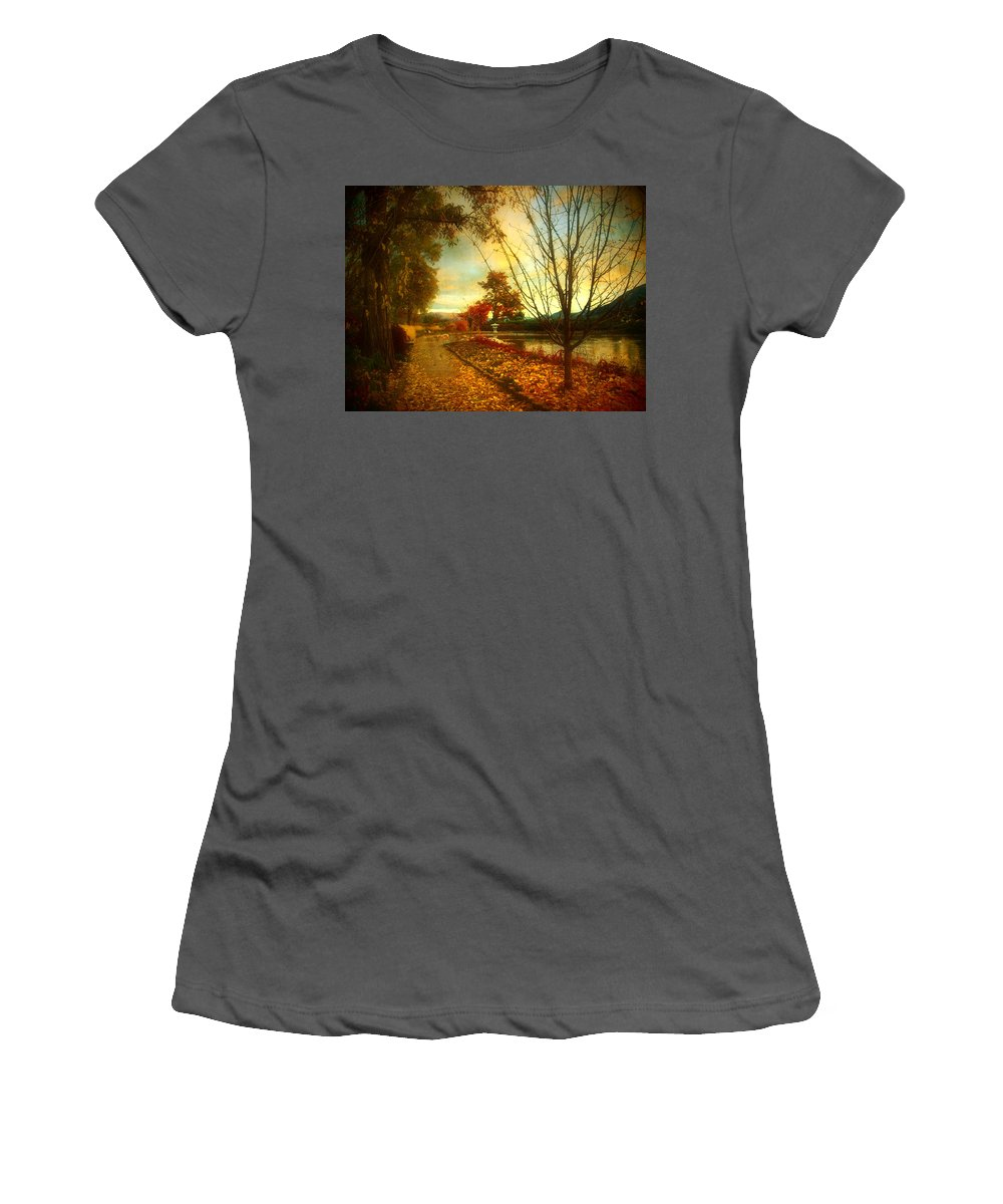 Autumn Women's T-Shirt (Athletic Fit) featuring the photograph Autumn Magic by Tara Turner