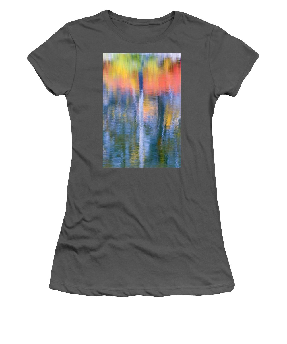 Reflection Women's T-Shirt (Athletic Fit) featuring the photograph Autumn Resurrection by Mike Dawson