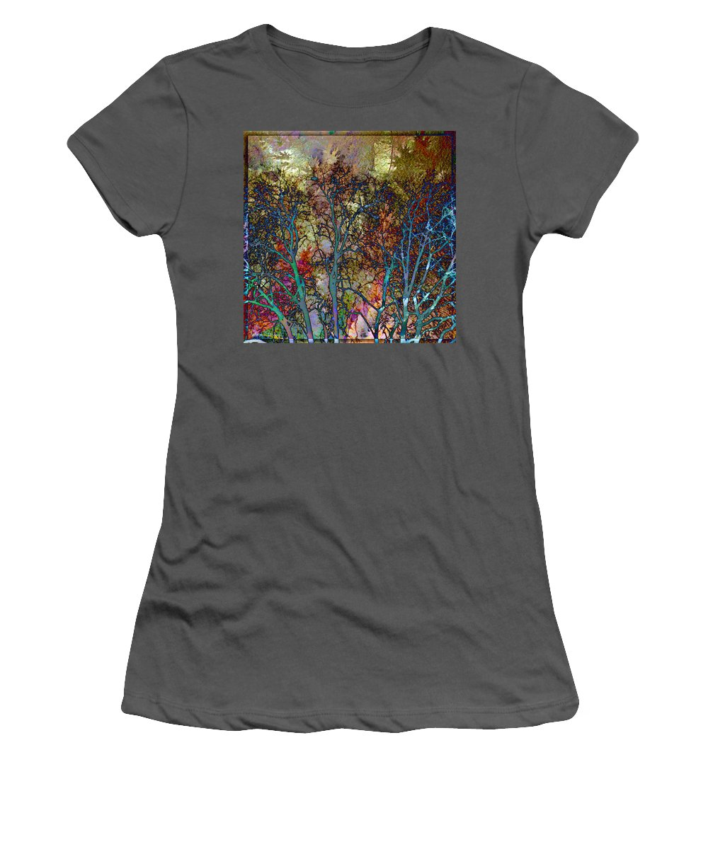 Autumn Women's T-Shirt (Athletic Fit) featuring the digital art Autumn Woods by Barbara Berney