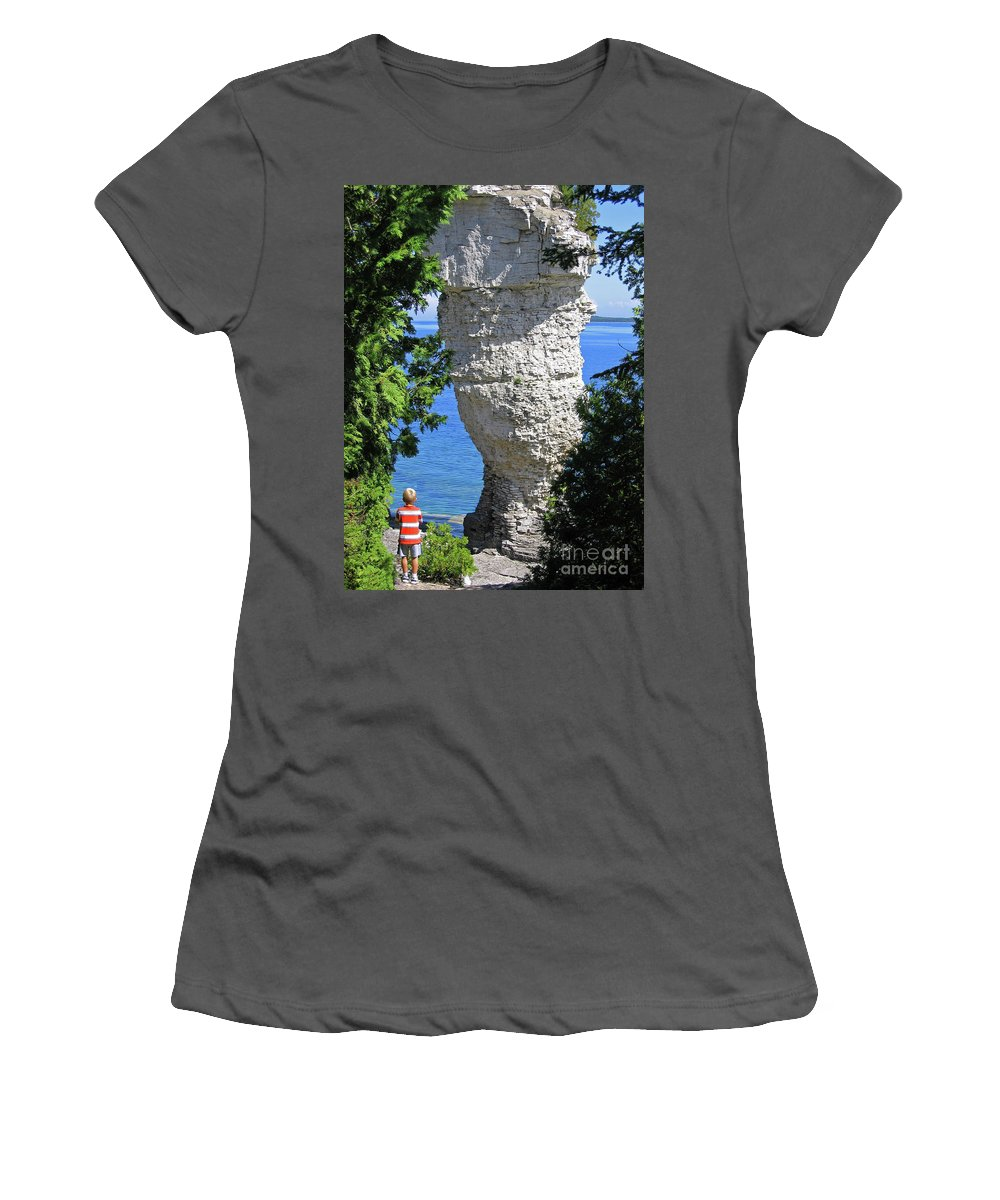 Stone Women's T-Shirt (Athletic Fit) featuring the photograph Awesome All Around by Ann Horn