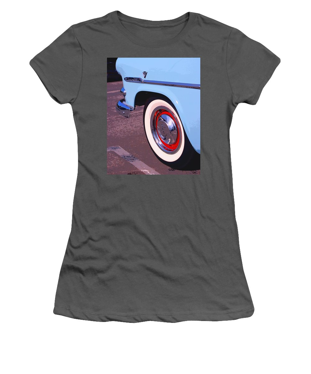 Pdhs Vintage Cars Women's T-Shirt (Athletic Fit) featuring the photograph Baby Blue by William Dey