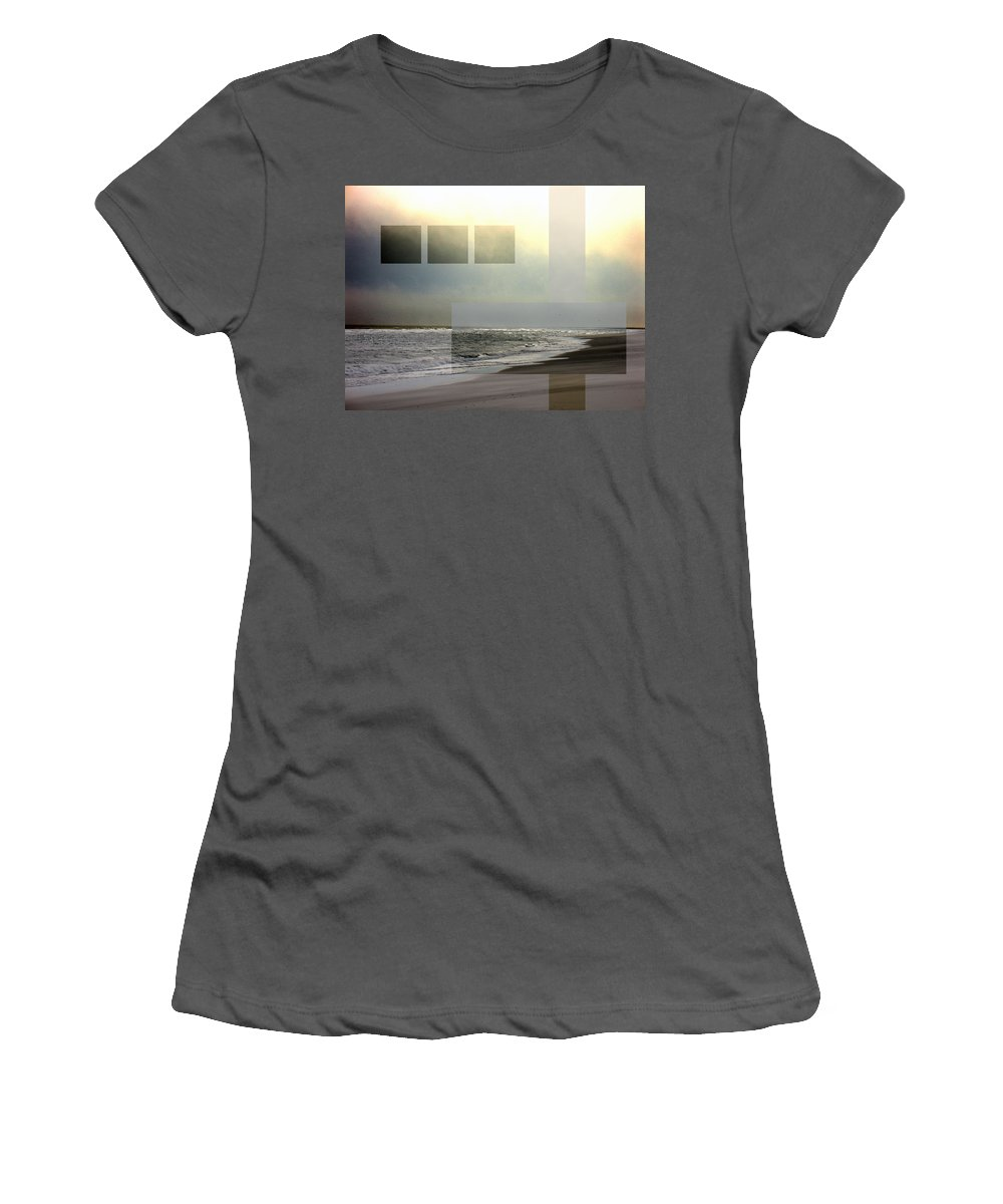 Beach Women's T-Shirt (Athletic Fit) featuring the photograph Beach Collage 2 by Steve Karol